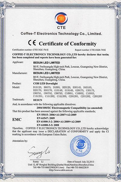 Downlight CE EMC